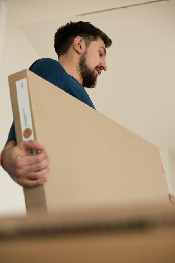 type de boîte de déménagement plate pour TV ou cadre