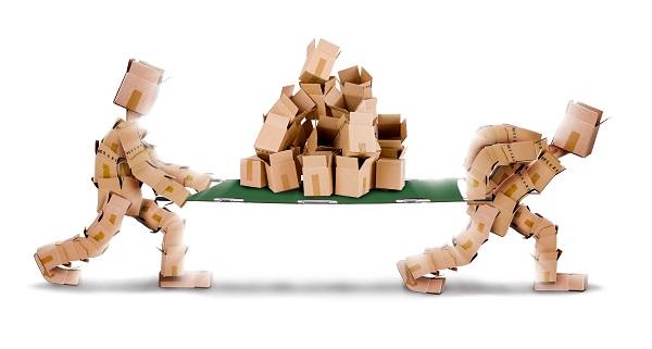 recyclage boites de déménagement en carton