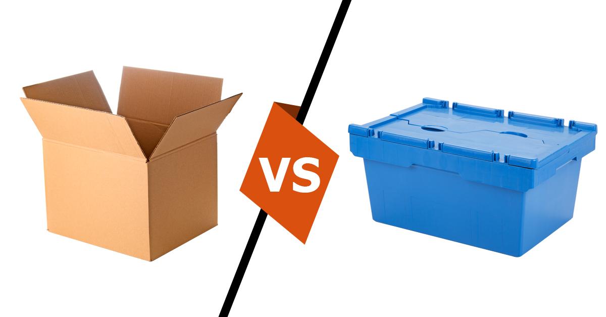 boites carton vs bacs plastique pour demenagement